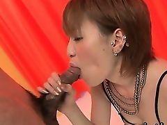 Сексуальная азиатская красотка, дергающая хуй