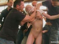 John Strong, Steve Holmes, Markus Dupree, Omar Galanti, Andreas трахают блондинку Lolita Taylor
